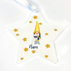 Bilde av Stjerne.. Nisse med gul hatt