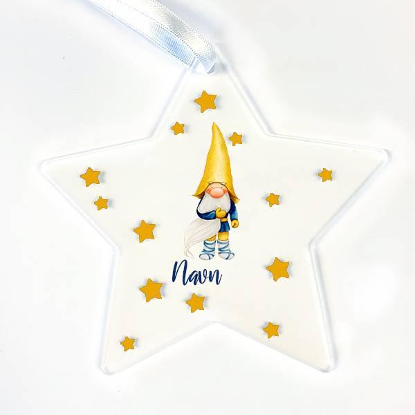 Stjerne.. Nisse med gul hatt